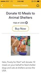 On Wellcoin, Your Healthy Choices Can Help Hungry Animals