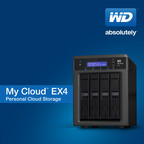 WD(R) Expands My Cloud(TM) Family With High-performance Four-Bay Personal Cloud Storage System.  (PRNewsFoto/WD)