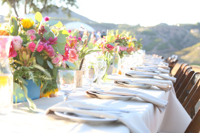 American Grown Field to Vase Dinner Tour in Fallbrook, California. Each dinner is held at a Certified American Grown flower farm and features local flowers, food, and wine.