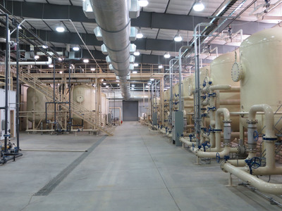 Ur-Energy's Completed Lost Creek Uranium ISR Processing Plant.  (PRNewsFoto/Ur-Energy Inc.)
