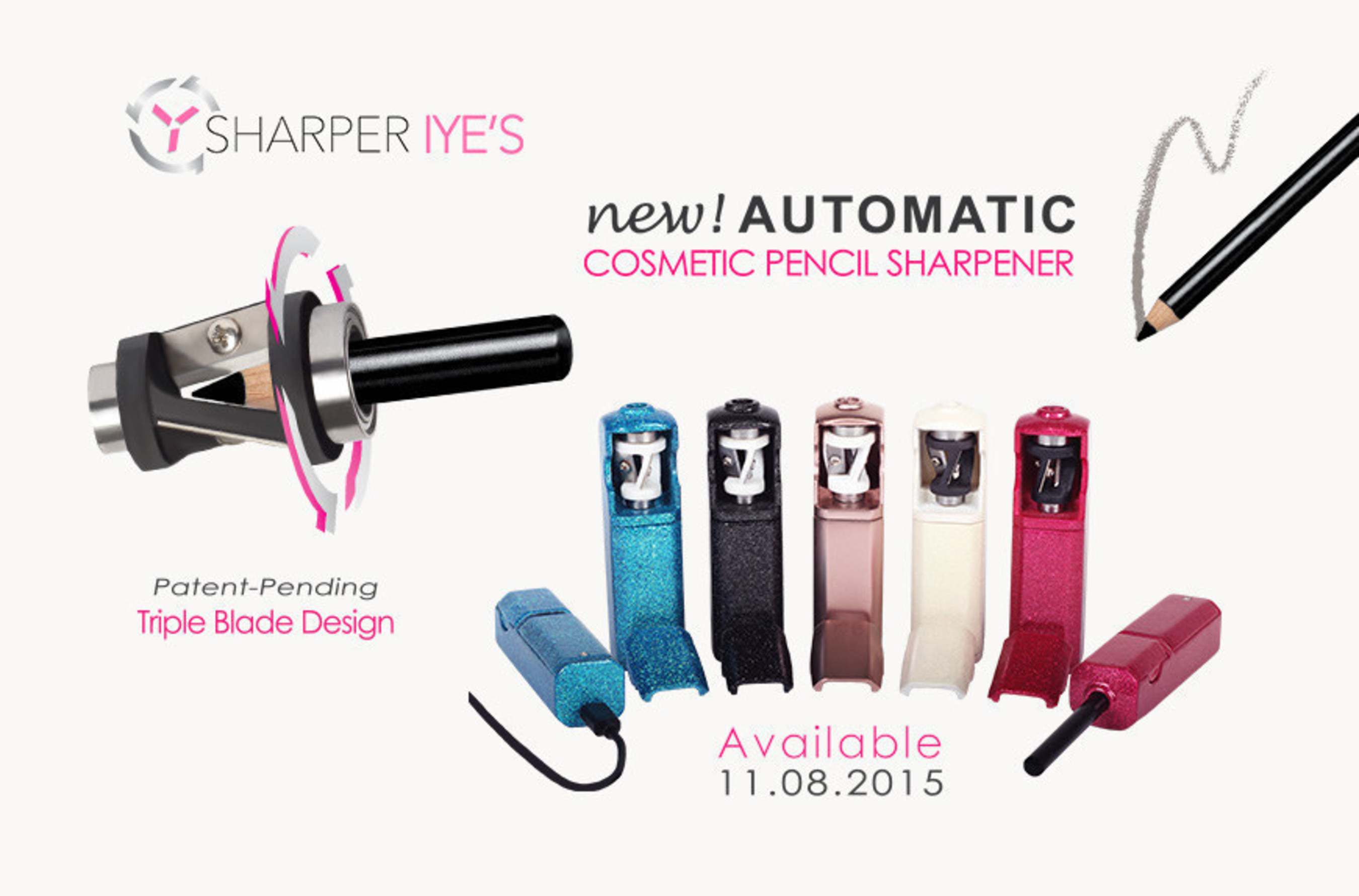 Introducing: Sharper Iye's, the NEW Automatic Cosmetic Sharpener