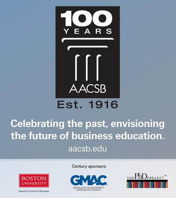 AACSB congratulates its accredited business schools on a century of excellence