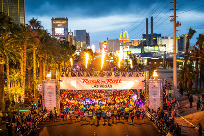 Runners take off at the 2015 Rock 'n' Roll Las Vegas Marathon