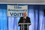 Pennsylvania Governor Tom Corbett speaks to Voith employees during the celebration of 135 years of hydropower manufacturing in York, Pennsylvania.  (PRNewsFoto/Voith Hydro)