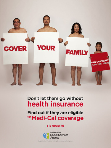 """Cover Your Family"" campaign, English.  (PRNewsFoto/Alameda County Social Services Agency)"