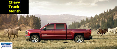 Chevy Truck Month is in full swing at Chevrolet of Naperville. Right now the dealership is offering some of the most impressive incentives for customers to switch to a 2014 Chevy Silverado. (PRNewsFoto/Chevrolet of Naperville)