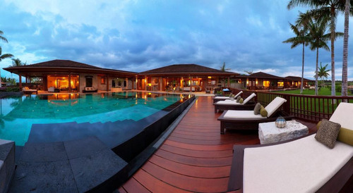 Balinese-inspired and Designer Furnished Hualalai Resort Residence on the Big Island's 'Gold Coast'