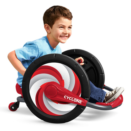 Zoom, spin and grin with Radio Flyer Cyclone(TM). (PRNewsFoto/Radio Flyer) (PRNewsFoto/RADIO FLYER)