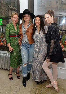 Garden Collage's CEO Daisy Helman, Kelly Framel, Shiva Rose and Mary Helen Bowers at event. Credit: Getty-Slaven Vlasic