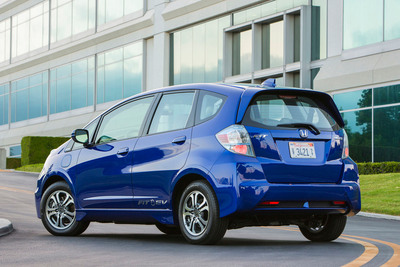 The all-electric 2013 Honda Fit EV.  (PRNewsFoto/Honda)