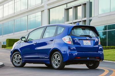 The all-electric 2013 Honda Fit EV.  (PRNewsFoto/Honda)