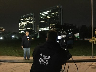 Caracol Television Colombia using LiveU's video transmission technology