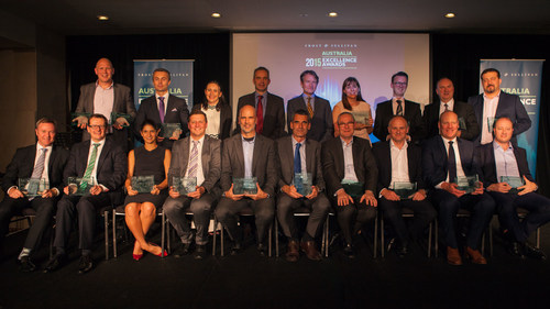 Frost & Sullivan Recognises 28 companies Across 4 Industries at the 10th Australia Excellence