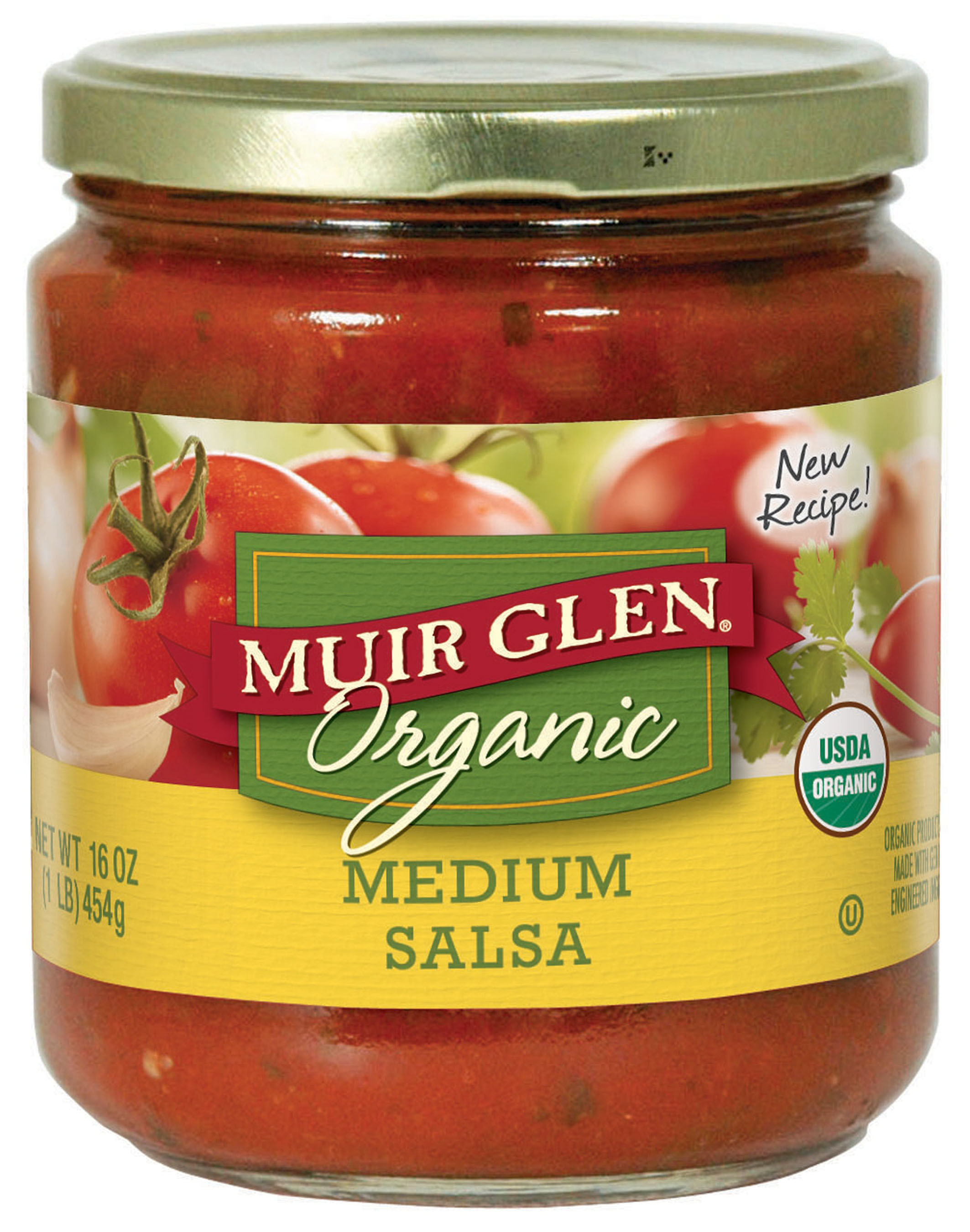 Muir Glen celebrated two new products and announced new product attributes today at Natural Products Expo West in Anaheim, Calif.  In January, Muir Glen introduced two delicious products to the brand's lineup of organic canned tomato varieties: new recipes for Mild and Medium Salsas and the 2013 Reserve Tomato harvest. Like all Muir Glen products, these additions are made using vine-ripened organic tomatoes picked once a year in California at peak flavor and canned within hours. The company also celebrated its commitment to transitioning all its canned tomato products to a liner made without BPA.  (PRNewsFoto/Muir Glen)