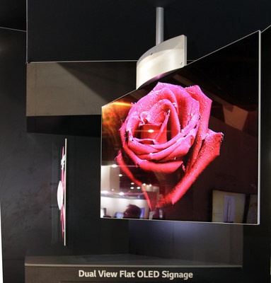 LG Electronics USA Business Solutions today announced that its brand new Dual-View Flat OLED Display, the first digital signage solution to offer OLED technology to the U.S. commercial marketplace, will begin shipping next month.