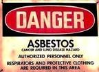 Asbestos Warning Sign (PRNewsFoto/Mesothelioma Compensation Center)