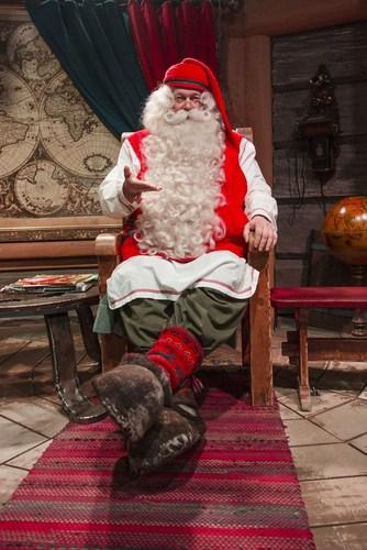 Santa Claus in his office in Rovaniemi, Finland, Arctic Circle (PRNewsFoto/Visit Rovaniemi)