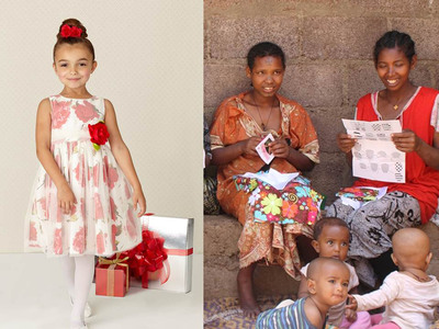 Purchase a Sweet Heart Rose(R) Patterns for Progress(TM) Holiday Dress and Bring Life Enriching Opportunities to Communities Around the World. (PRNewsFoto/Kahn Lucas) (PRNewsFoto/KAHN LUCAS)