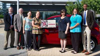 Representing some of the 29 nonprofits receiving 2013 Nissan Foundation grants are (from left): Daniel Tidwell, Nashville Public Television; Tom Ward, Oasis Center; Maryanna Clarke, Tennessee Women's Theater Project; Ellen Gilbert, Global Education Center; Keri Jhaveri, Frist Center for the Visual Arts; Jennifer Neal, Children's Museum Corporation of Rutherford County; and Mohamed Hassan, Tennessee Immigrant & Refugee Rights Coalition.  (PRNewsFoto/Nissan North America)