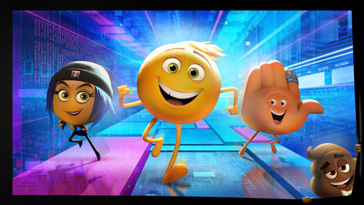 Hacker emoji Jailbreak (Ilana Glazer), exuberant Gene (T.J. Miller) and his handy best friend Hi-5 (James Corden) embark on the app-venture of a lifetime in Sony Pictures Animation's EMOJIMOVIE: EXPRESS YOURSELF, in theaters summer 2017.