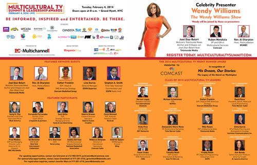 PR Newswire to Sponsor 2014 Multicultural TV Summit. (PRNewsFoto/PR Newswire Association LLC) (PRNewsFoto/PR NEWSWIRE ASSOCIATION LLC)