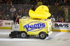 Just in time for spring, the sweetest machine on ice, the new PEEPS(R) Zamboni(R) machine, is unveiled on the ice at the Lehigh Valley Phantoms hockey game in Allentown, PA on Sunday, March 22.