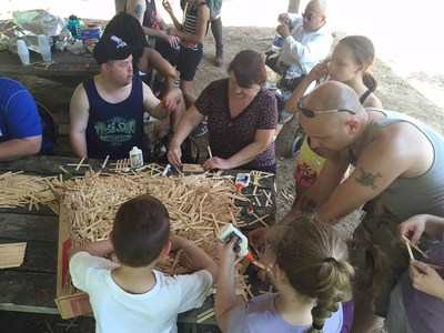 Wounded Warriors enjoy arts, crafts, hiking and more during an outdoor adventure in Whiteford, Maryland.