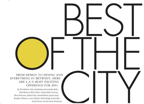 """Angeleno Magazine's """"Best of the City"""" 2014 issue has named Meridith Baer Home as the #1 home staging business in Los Angeles. (PRNewsFoto/Meridith Baer Home) (PRNewsFoto/MERIDITH BAER HOME)"""