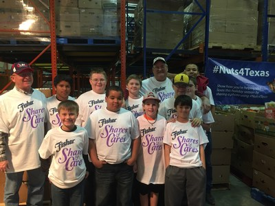Community volunteers from the Fisher Shares & Cares Event at the Food Bank of West Central Texas