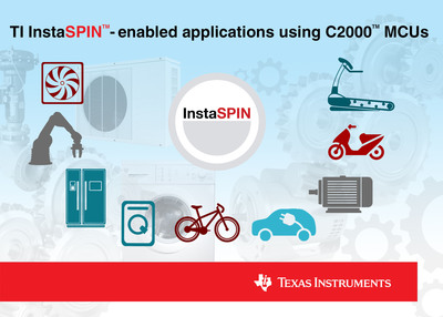 TI InstaSPIN(tm)-enabled applications. (PRNewsFoto/Texas Instruments) (PRNewsFoto/TEXAS INSTRUMENTS)
