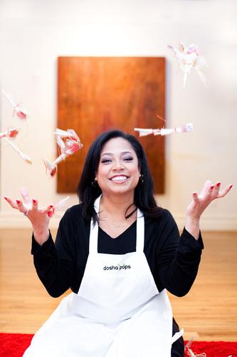 Peggy Andrews, Chief Lollipop Maker. (PRNewsFoto/Dosha Pops) (PRNewsFoto/DOSHA POPS)