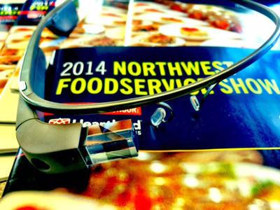 Google Glass will be used to live stream from the 2014 Northwest Foodservice Show.  (PRNewsFoto/Washington Restaurant Association)