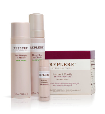 Introducing REPLERE Acne Solutions Kit: Re-Thinking Acne Care Inside & Out. Antioxidant-Based Skincare Delivers Proven, Natural Treatment for Acne.  (PRNewsFoto/REPLERE)