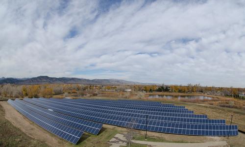 Ground Mount installation in Boulder, Colorado installed by Lighthouse Solar. (PRNewsFoto/Lighthouse Solar) ...