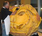 Scott Cully will carve the largest pumpkin in the world at The New York Botanical Garden during Halloween weekend 2010.  (PRNewsFoto/The New York Botanical Garden)