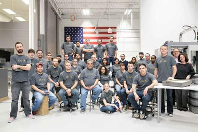 The STATE Optical team at their factory in Chicago