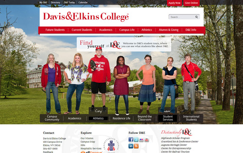 Third Wave Digital announces launch of latest higher education website for Davis and Elkins College