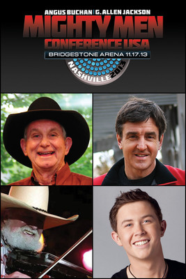 The Mighty Men Conference Nashville features Angus Buchan, G. Allen Jackson, Scotty McCreery and Charlie Daniels.  (PRNewsFoto/World Outreach Church)