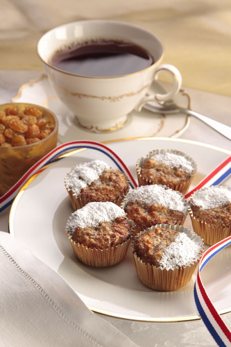 "These ""Go for the Gold"" Raisin Tea Cakes bring a touch of Britain to your kitchen as you get ready to ..."