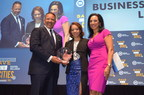 "MBDA National Director Alejandra Y. Castillo receives her ""Women of Power"" Award from National Urban League President Marc H. Morial and CBS Correspondent Michelle Miller during the 2016 Women of Power & Business Leaders Awards Luncheon In Baltimore."