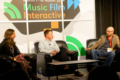"""From left to right: Kira Pollack, director of photography at Time Magazine, Dan Toffey, Instagram community manager, and David Guttenfelder, AP Chief Photographer, Asia, speaking on the South by Southwest panel """"Instagramming the News."""" (PRNewsFoto/PR Newswire Association LLC)"""