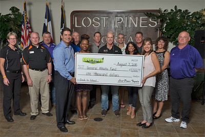 lost pines toyota presents high school athletic programs with financial boost at monthly gumbo. Black Bedroom Furniture Sets. Home Design Ideas
