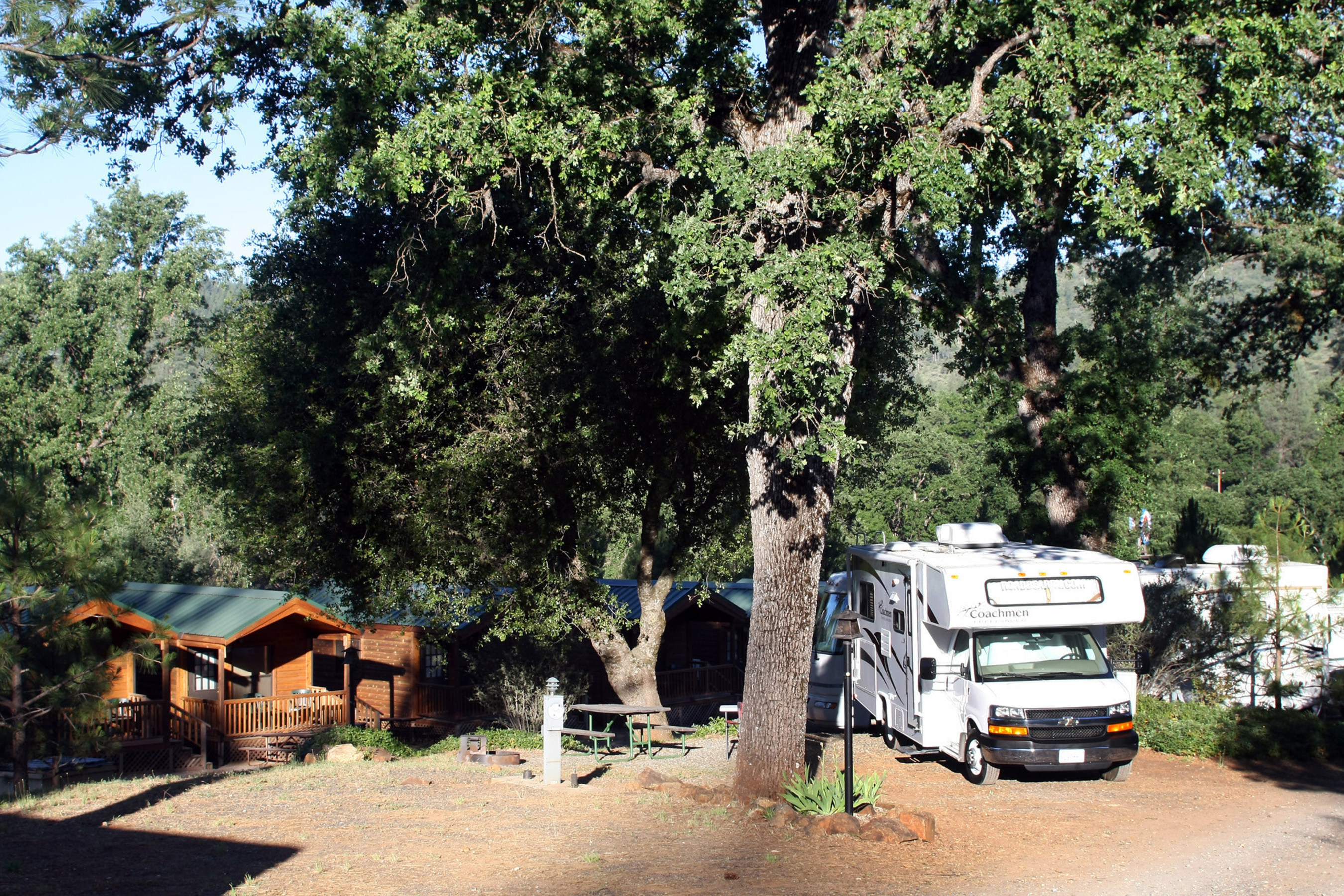 Shady RV and Tent sites or Cabins in the forest increased the demand for more lodging options. (PRNewsFoto/Yosemite Pines RV Resort...)