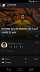 theScore's personalized 'Feed' on Android. (PRNewsFoto/theScore, Inc.)