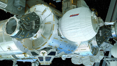 This artist's concept depicts the Bigelow Expandable Activity Module (BEAM), constructed by Bigelow Aerospace. Now attached to the International Space Station, BEAM will be expanded to its full size Thursday, May 26, 2016, soon after which the space station crew will begin a two-year test of the new habitat.