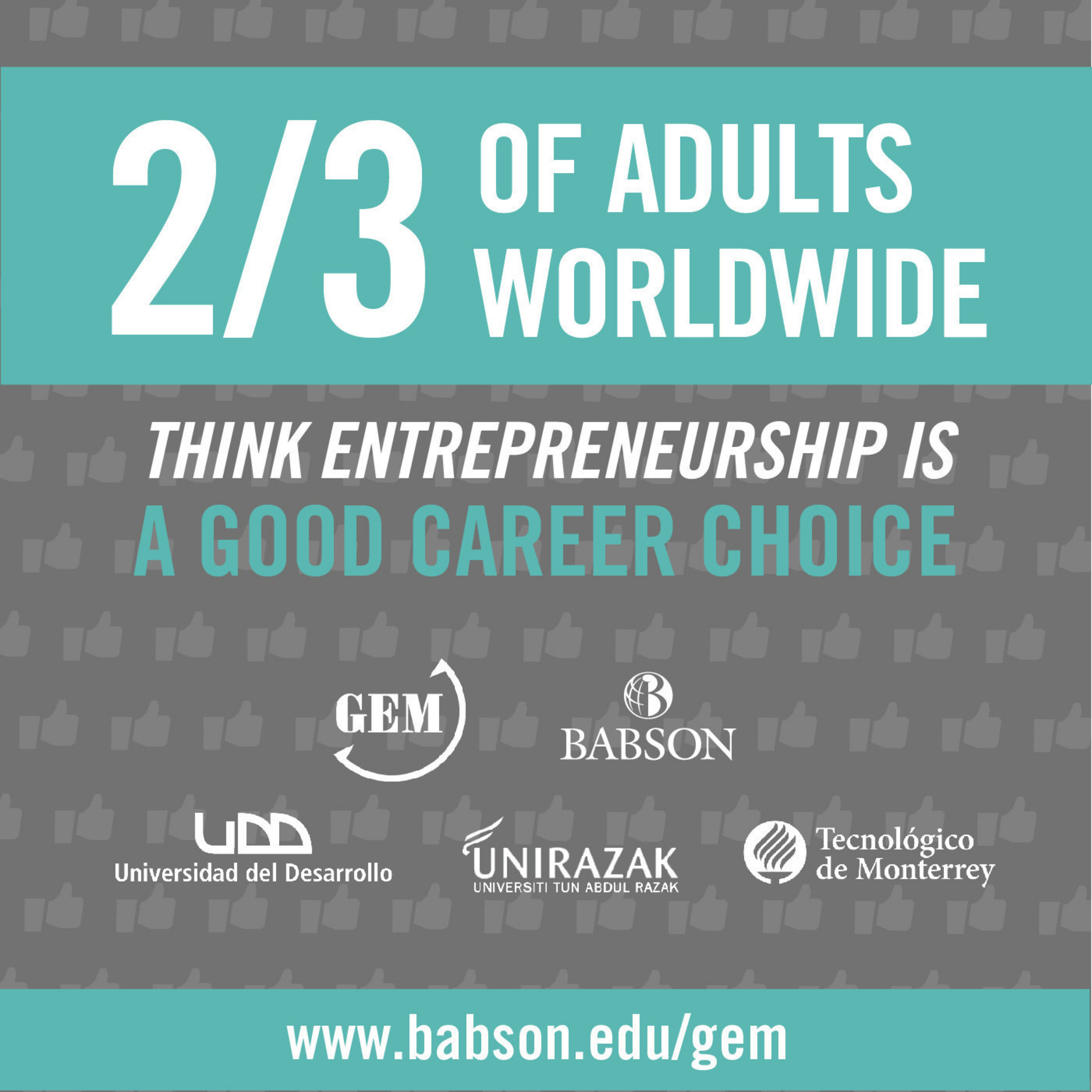 Two-Thirds Of Adults Worldwide Think Entrepreneurship Is A Good Career Choice According To The 2015 Global ...