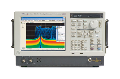 The Tektronix RSA5000 Real-Time Spectrum Analyzer Series is the lowest cost real-time spectrum analyzer for mid-range performance, featuring the industry's most advanced signal discovery and triggering capabilities. Included in the expansion of the RSA5000 Series are new 26.5 GHz and 15 GHz models along with the recently-announced 110 MHz bandwidth option that is now available on all Tektronix Real-Time Spectrum Analyzers.  (PRNewsFoto/Tektronix, Inc.)