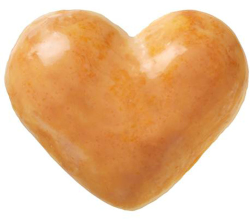 You'll melt their hearts when you bring home a box of heart-shaped delights from Krispy Kreme(R) from your ...