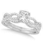Infinty Diamond Bridal Set - Part of the Design Your Own Jewelry collection from Allurez (PRNewsFoto/Allurez)