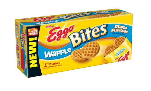 Eggo Bites(TM) is a new, away-from-the-table line of Eggo waffles and French toast. Great for busy mornings!  (PRNewsFoto/Kellogg Company)